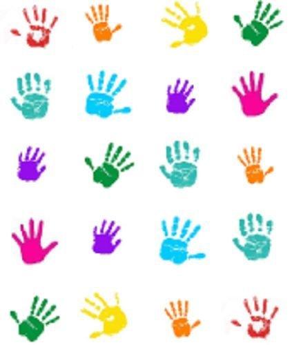 40 Colorful Handprints Waterslide Nail Decals/Nail art