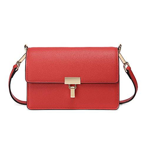 unie mode petit et féminin Lxf20 Red couleur Sac sac américain Européen carré T1Xqw0Ux