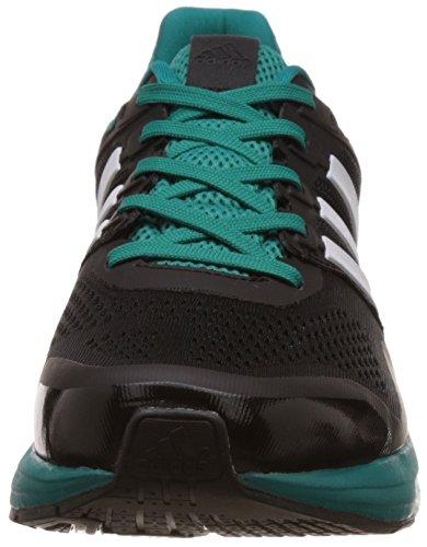 adidas Supernova Glide 8 M Zapatillas de running, Hombre Negro / Blanco / Verde (Negbas / Ftwbla / Eqtver)