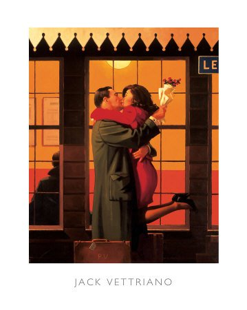 Back Where You Belong by Jack Vettriano Art Print Poster,, used for sale  Delivered anywhere in USA