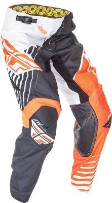 Fly Racing Unisex-Adult Kinetic Vector Pants (Fluorescent Orange/White/Black, Size 22)