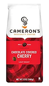 Cameron's Coffee Roasted Whole Bean Coffee, Flavored, Chocolate Covered Cherry, 12 Ounce