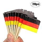 BinaryABC German Flag Picks Food Toothpi