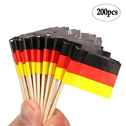 BinaryABC German Flag Picks Food Toothpicks, Cocktail Sticks Cupcake - German Picks Flag