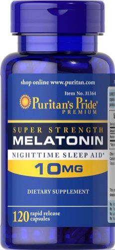 Puritan's Pride 2 Pack of Melatonin 10 Mg Puritan's Pride Me