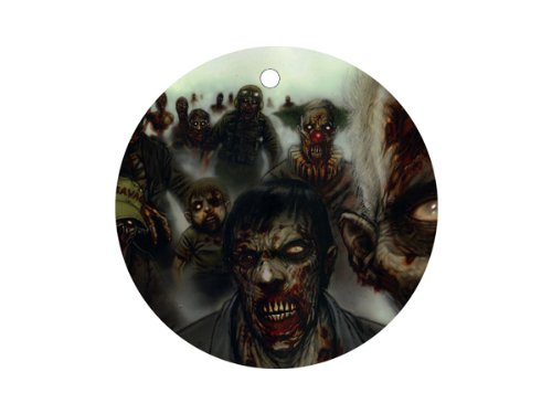(Zombies Ornament round porcelain Christmas Great Gift Idea)
