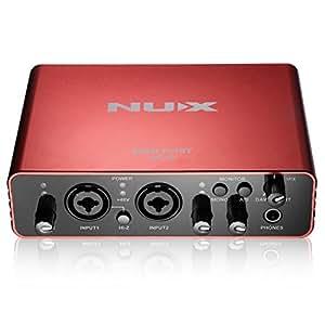 nux uc 2 mini port usb audio interface for guitar microphone headphone computer. Black Bedroom Furniture Sets. Home Design Ideas