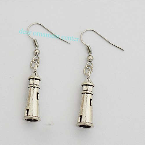 Lighthouse Nautical Charm - Lighthouse Earrings - Nautical Jewelry - Lighthouse Jewelry - Light Earrings - Charm Earrings - Costume Jewelry - Dangling Earrings