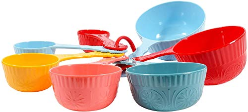 The Pioneer Woman Timeless Beauty 7-Piece Melamine Measuring Cup Set
