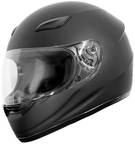 Amazon.com: Duke Helmets DK-110 Full Face Motorcycle Helmet, Large, Matte Black: Automotive