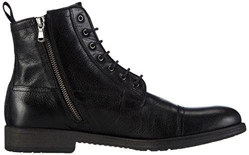 Geox Herren U Jaylon B Combat Boots Schwarz (C9999BLACK) 45