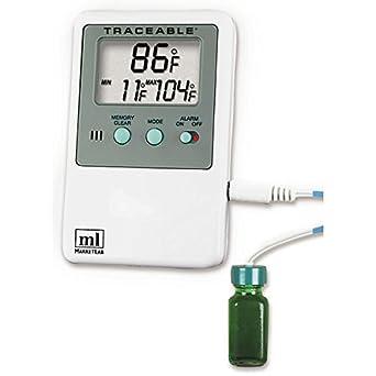 Amazon.com: Hi-Lo Alarma Termómetro con externo Botella ...