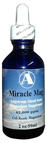 Liquid Magnesium Supplement- Miracle Mag 2 oz travel size 62,000 ppm liquid ionic Angstrom Magnesium