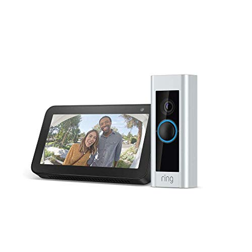 Certified Refurbished Ring Video Doorbell Pro with Certified Refurbished Echo Show 5 (Charcoal)