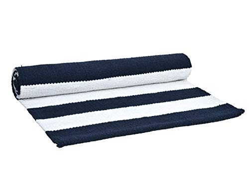 Glamburg 100% Cotton Horizontal Stripe Yoga Mat