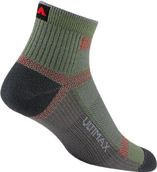 Wigwam Athletic Socks Ultra Cool Lite Quarter, Moss, (Ultra Lite Air)