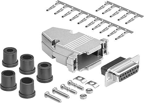 DAMM15PNK87 DAMM15PNK87 DA Plug DB15 DM Series Steel Body Through Hole Pack of 2 15 Contacts D Sub Connector