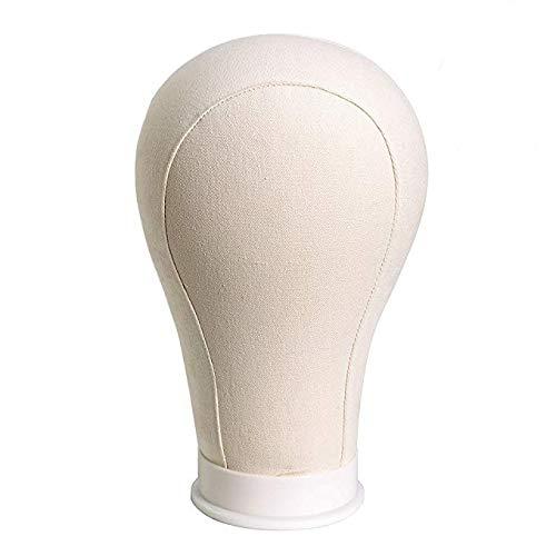 Testa di manichino, leggera, in tela, per esposizione di parrucche yiliusu