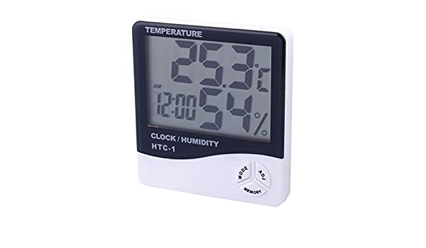 Amazon.com: eDealMax Indoor Outdoor LCD Digitale di umidità del termometro igrometro Orologio: Home & Kitchen
