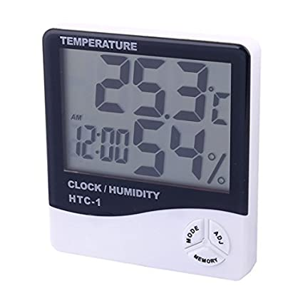 7aa98aa664b Image Unavailable. Image not available for. Color  DealMux Indoor Outdoor  LCD Termômetro Digital hygrometer Relógio