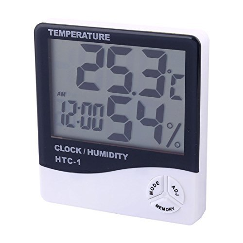DealMux Indoor Outdoor LCD Termmetro Digital hygrometer Relgio