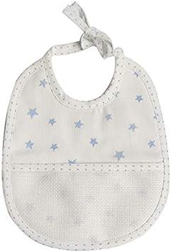 Babero Bebé con estrellas cierre con cordones – 100% algodón – 18 x 21 cm, azul: Amazon.es: Bricolaje y herramientas