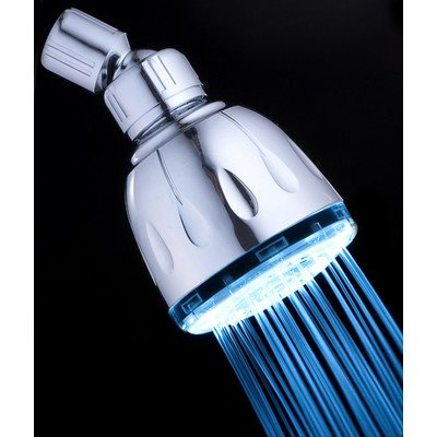 single color led shower head - 1