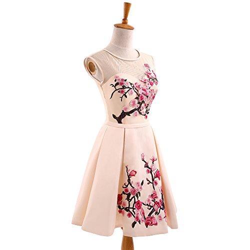 Bainjinbai Kurz Blumen Applikation Kleider Abendkleider BrautjungfernKleider Formal Kleider Cocktail Party Kleider