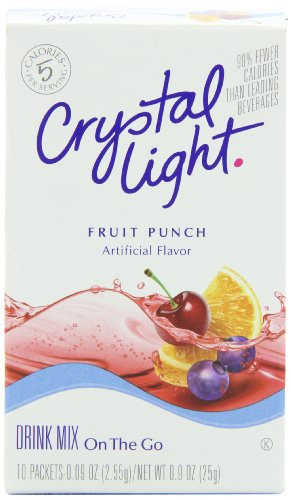 Crystal Light On The Go Fruit Punch Drink Mix, 10-Count Packets (Pack of 6)
