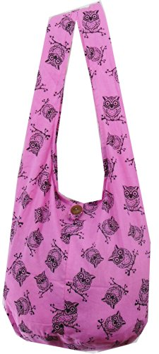Bag NaLuck Cross Owl Large Vintage Shoulder Boho Hippie Pink Sling Messenger body rqzXUrw