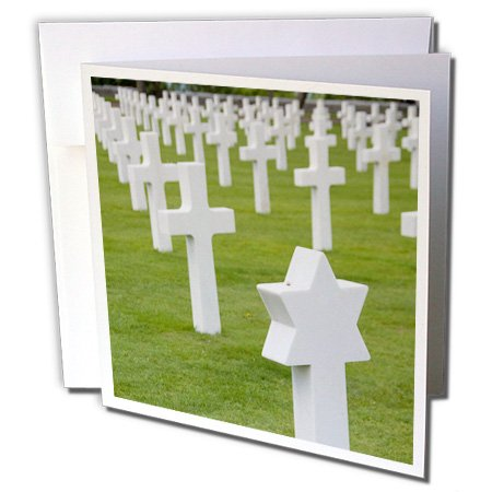 Price comparison product image 3dRose Greeting Cards, Normandy, Wwii Cemetery, France (gc_81410_1)