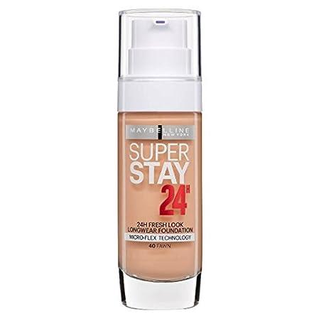 Maybelline Superstay 24HRS 40 Fawn Frasco dispensador - base de maquillaje (Fawn, Piel mixta