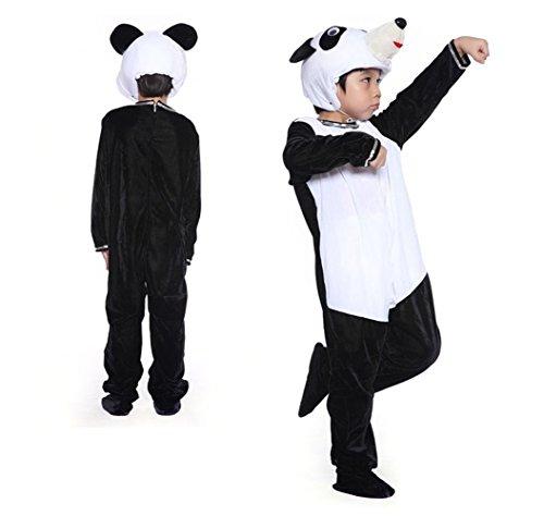 Children Animals Costume Cartoon Performance Costume Children's Day Jumpsuit (Cute Panda Halloween Makeup)