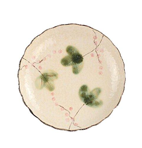 Midsummer Lotus Dessert Plate/Ceramic Plate/Snack Dishes/20X20cm (Midsummer Salad)