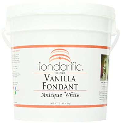 Fondarific Vanilla Antique White Fondant, 10-Pounds