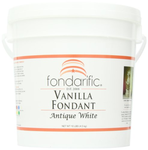 Fondarific Vanilla Antique White Fondant, 10-Pounds