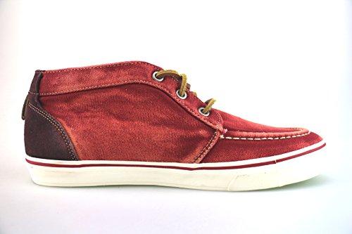 CAFE' NOIR sneakers uomo rosso tela camoscio AG274