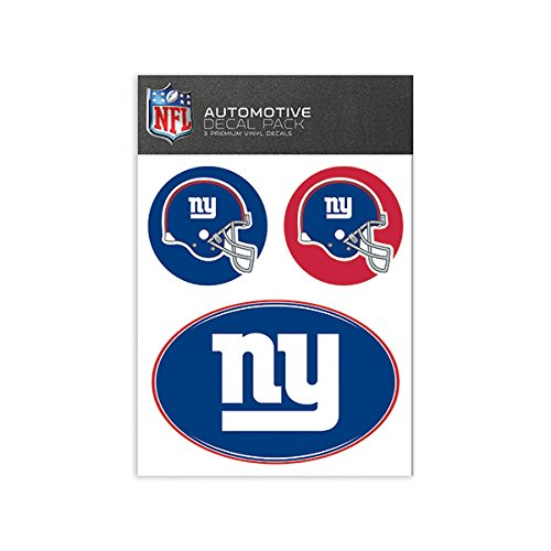 NFL New York Giants Medium Decal Pack