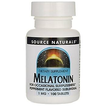 Melatonin 1mg Sublingual-Peppermint Source Naturals, Inc. 100 Lozenge