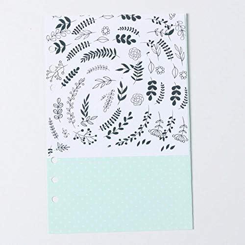 LASISZ Niedliches kreatives handgemachtes 6-Loch-Binder-Planer-Spiral-Notizbuch innerhalb des Organizer-Beutels Zubehör Briefpapier A5 A6, Farbe 5, A6nur innerhalb der Tasche