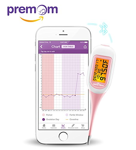 Premom Ovulation Predictor App Integrated Easy@Home Smart Basal Thermometer  Simplest Ovulation and Period Tracker With Auto BBT Sync, Charting, Coverline And Accurate Fertility Prediction, EBT-300