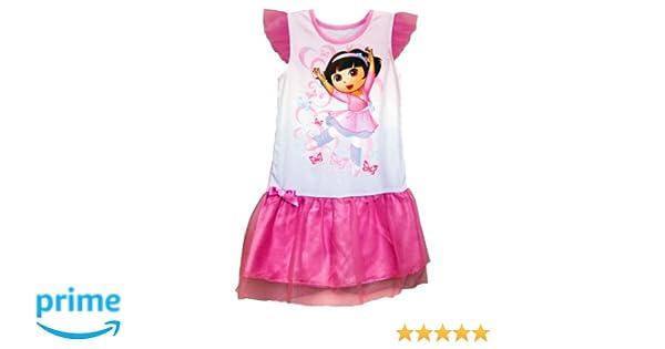 4 pc Set DORA Explorer Ballerina Toddler Girls Pajama Size 2T 3T 4T Pink White