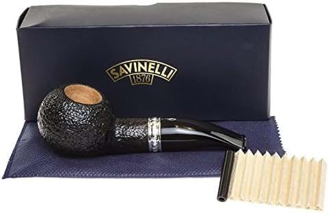 Savinelli Italian Tobacco Smoking Pipes, Trevi Rusticated 320 KS