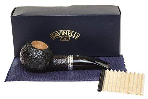 Savinelli Italian Tobacco Smoking Pipes, Trevi Rusticated 320 KS (Savinelli Pipe Tobacco)