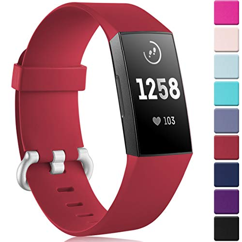 Maledan Classic Bands Compatible with Fitbit Charge 3 & Char