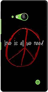 DailyObjects Love Is All We Need Case For Nokia Lumia 730