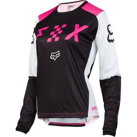 Fox Racing 2018 Womens Switch Jersey-Black/Pink-XS