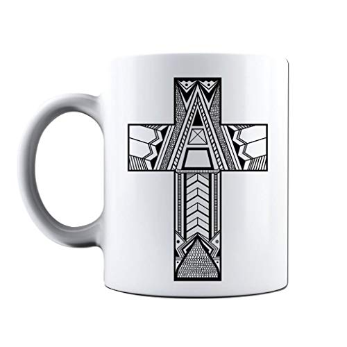 Life Crucifix (Printed Mug and Coffee Cups Illustrated Religious Crucifix Funny Mugs Novelty Gift Idea)