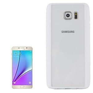 Rainbow Series Acrylic and Material TPU Case Cover Disco Carcasa Para Samsung Galaxy Note 5/N920 (White)