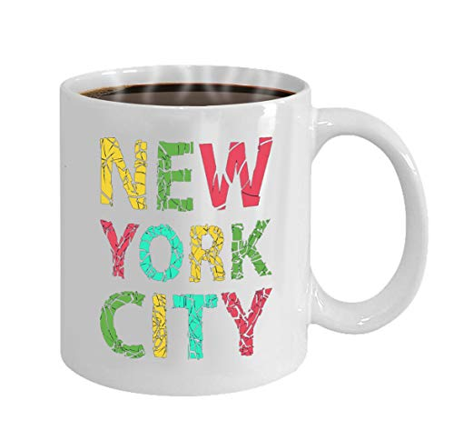 Funny Gifts for Halloween Party Gift Coffee Mug Tea new york city typography -